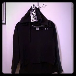 Black PINK Victoria Secret crop hoodie